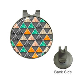 Abstract Geometric Triangle Shape Hat Clips With Golf Markers