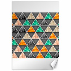 Abstract Geometric Triangle Shape Canvas 12  X 18