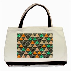Abstract Geometric Triangle Shape Basic Tote Bag (two Sides)