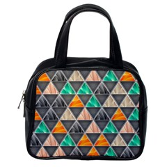 Abstract Geometric Triangle Shape Classic Handbags (One Side)