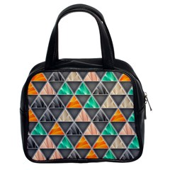 Abstract Geometric Triangle Shape Classic Handbags (2 Sides)