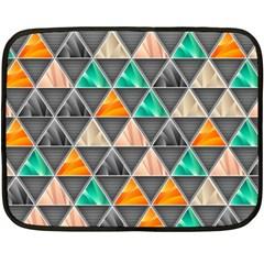 Abstract Geometric Triangle Shape Double Sided Fleece Blanket (mini)