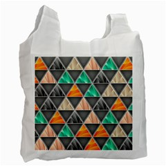 Abstract Geometric Triangle Shape Recycle Bag (One Side)