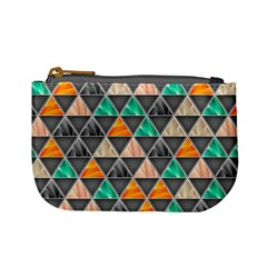 Abstract Geometric Triangle Shape Mini Coin Purses