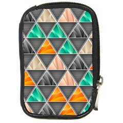 Abstract Geometric Triangle Shape Compact Camera Cases