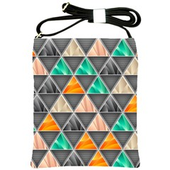 Abstract Geometric Triangle Shape Shoulder Sling Bags