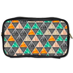 Abstract Geometric Triangle Shape Toiletries Bags 2 Side