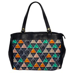 Abstract Geometric Triangle Shape Office Handbags