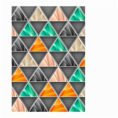 Abstract Geometric Triangle Shape Small Garden Flag (two Sides)