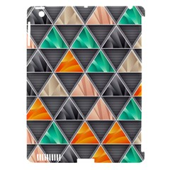 Abstract Geometric Triangle Shape Apple Ipad 3/4 Hardshell Case (compatible With Smart Cover)