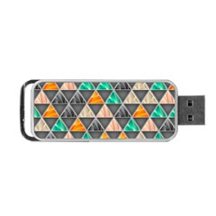 Abstract Geometric Triangle Shape Portable Usb Flash (one Side)
