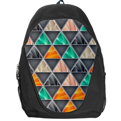 Abstract Geometric Triangle Shape Backpack Bag