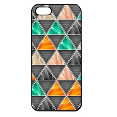 Abstract Geometric Triangle Shape Apple Iphone 5 Seamless Case (black)