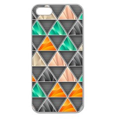Abstract Geometric Triangle Shape Apple Seamless Iphone 5 Case (clear)