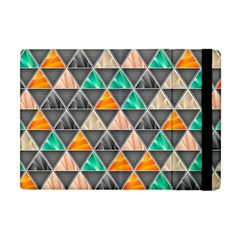 Abstract Geometric Triangle Shape Apple Ipad Mini Flip Case