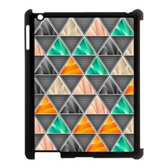 Abstract Geometric Triangle Shape Apple Ipad 3/4 Case (black)
