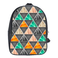 Abstract Geometric Triangle Shape School Bags (XL)