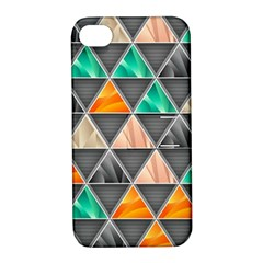 Abstract Geometric Triangle Shape Apple Iphone 4/4s Hardshell Case With Stand