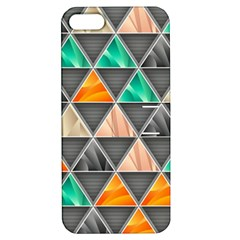 Abstract Geometric Triangle Shape Apple Iphone 5 Hardshell Case With Stand