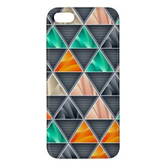 Abstract Geometric Triangle Shape Apple iPhone 5 Premium Hardshell Case