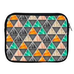 Abstract Geometric Triangle Shape Apple Ipad 2/3/4 Zipper Cases
