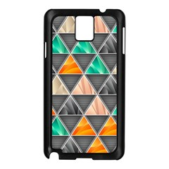 Abstract Geometric Triangle Shape Samsung Galaxy Note 3 N9005 Case (Black)