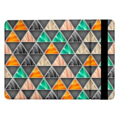 Abstract Geometric Triangle Shape Samsung Galaxy Tab Pro 12 2  Flip Case