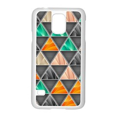 Abstract Geometric Triangle Shape Samsung Galaxy S5 Case (white)