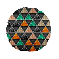 Abstract Geometric Triangle Shape Standard 15  Premium Flano Round Cushions