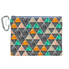Abstract Geometric Triangle Shape Canvas Cosmetic Bag (xl)