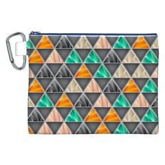 Abstract Geometric Triangle Shape Canvas Cosmetic Bag (xxl)