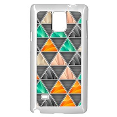 Abstract Geometric Triangle Shape Samsung Galaxy Note 4 Case (white)
