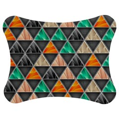 Abstract Geometric Triangle Shape Jigsaw Puzzle Photo Stand (bow)