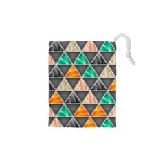 Abstract Geometric Triangle Shape Drawstring Pouches (xs)
