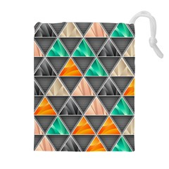 Abstract Geometric Triangle Shape Drawstring Pouches (extra Large)