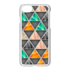 Abstract Geometric Triangle Shape Apple Iphone 7 Seamless Case (white)