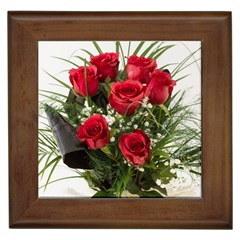 Red Roses Roses Red Flower Love Framed Tiles