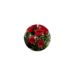 Red Roses Roses Red Flower Love 1  Mini Magnets