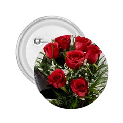 Red Roses Roses Red Flower Love 2.25  Buttons