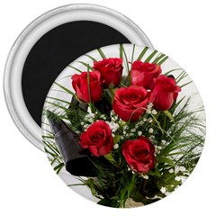Red Roses Roses Red Flower Love 3  Magnets