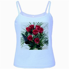 Red Roses Roses Red Flower Love Baby Blue Spaghetti Tank