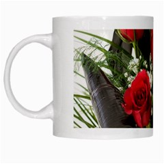 Red Roses Roses Red Flower Love White Mugs