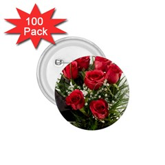 Red Roses Roses Red Flower Love 1 75  Buttons (100 Pack)