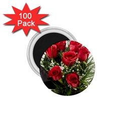 Red Roses Roses Red Flower Love 1 75  Magnets (100 Pack)