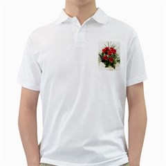 Red Roses Roses Red Flower Love Golf Shirts