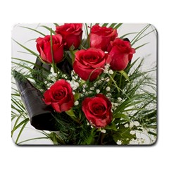 Red Roses Roses Red Flower Love Large Mousepads