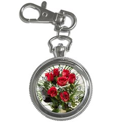 Red Roses Roses Red Flower Love Key Chain Watches