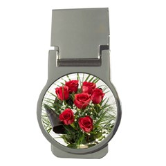 Red Roses Roses Red Flower Love Money Clips (round)