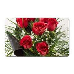 Red Roses Roses Red Flower Love Magnet (Rectangular)