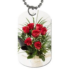 Red Roses Roses Red Flower Love Dog Tag (one Side)